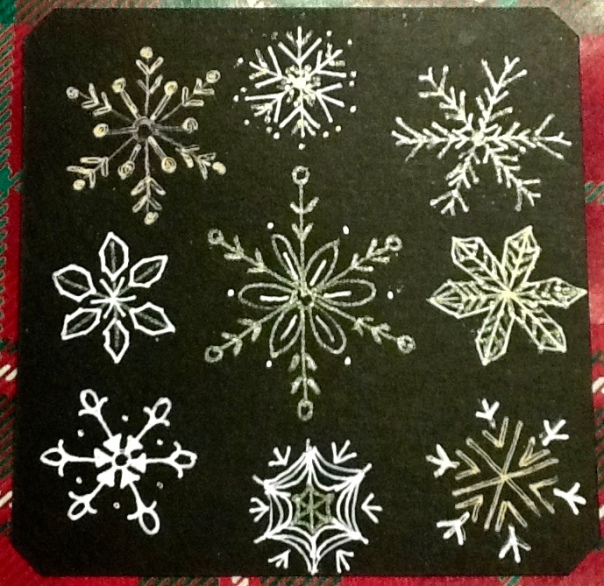 Zentangle, snowflakes