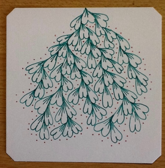 Zentangle, luv-a, Christmas tree