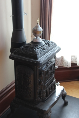Stove to warm the bedroom.