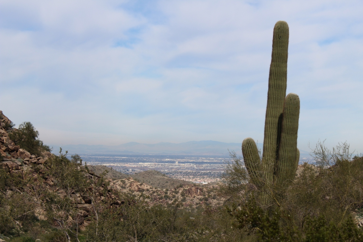Hiking in South Mountain Park, Phoenix