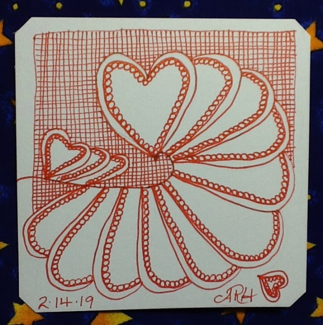 #DC385, Zentangle, #HeartEcho