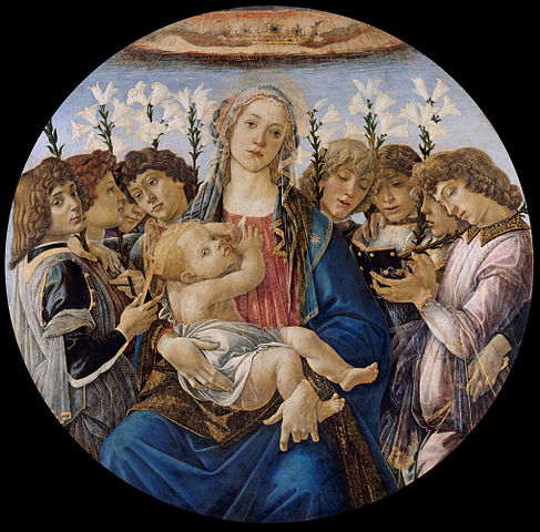 487px-Sandro_Botticelli_-_Mary_with_the_Child_and_Singing_Angels_-_Google_Art_Project