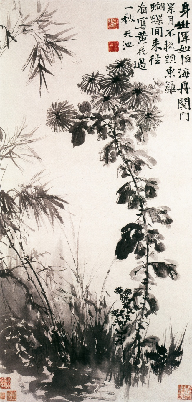 Chrysanthemums_and_Bamboos_by_Xu_Wei