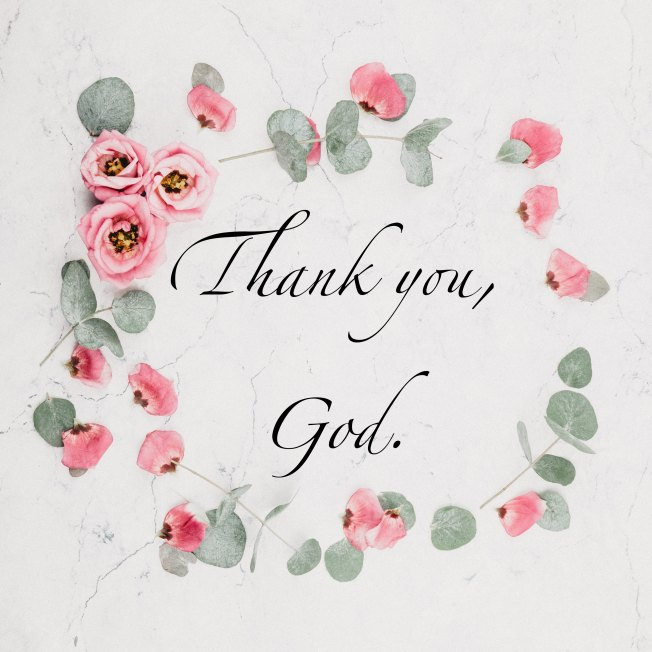 Thank you, God.