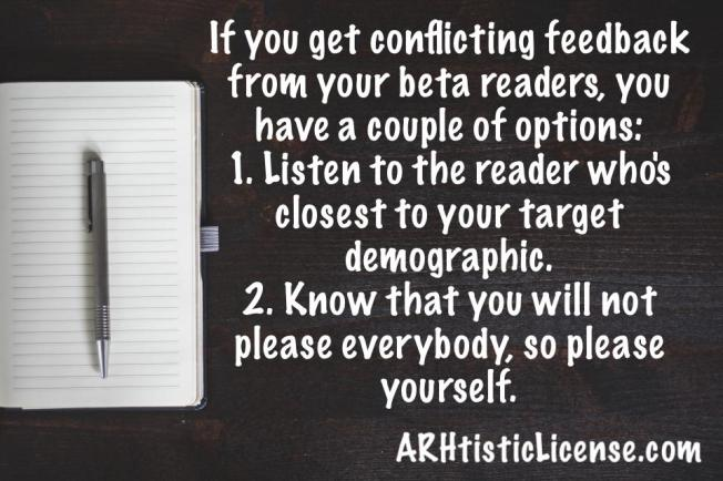 Considering beta reader feedback