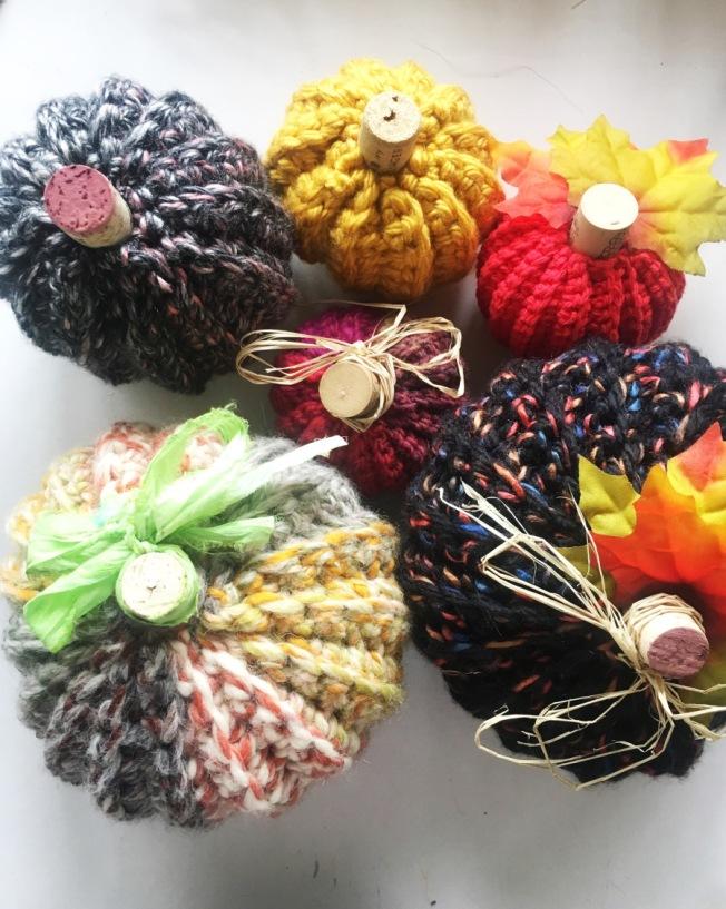 Vesna Taneva-Miller; crocheted pumpkins