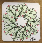 Zentangle; Christmas wreath