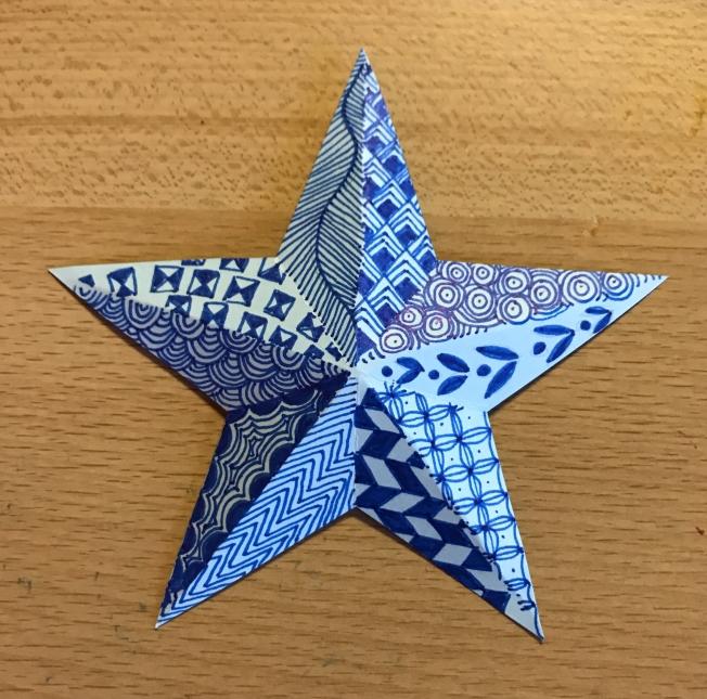 Zentangle; Christmas star